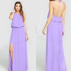 {Show Me Your Mumu} Heather Halter Dress Side Slit